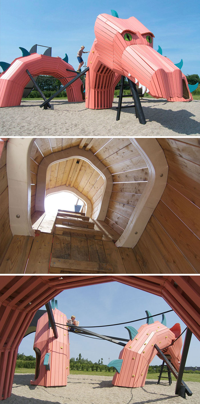 Восхитительные детские площадки от датской компании Интересное