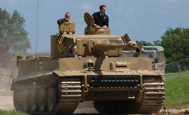Внутри настоящего танка Тигр
