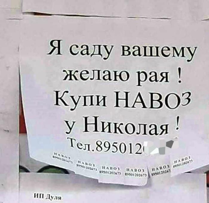 17 жизненных объявлений с русской душой и искрометным юмором