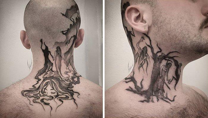 Лучшие татуировки на шее