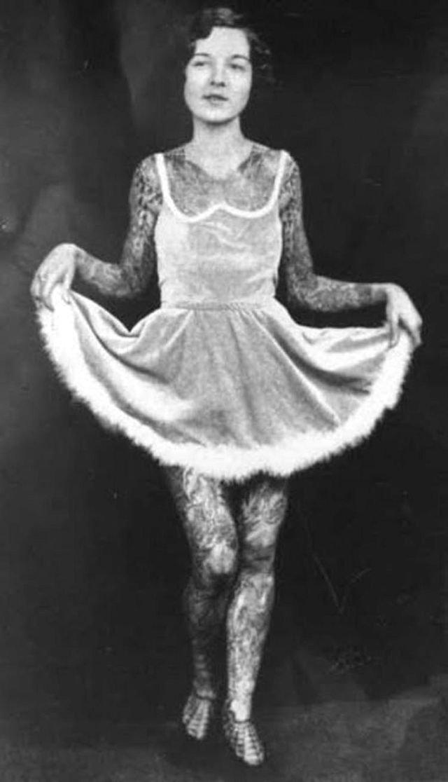 Женщины с татуировками в начале 20 века