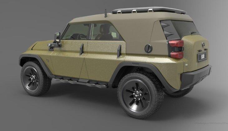 Дизайнер создал ремейк легендарного УАЗа-469-8 фото-