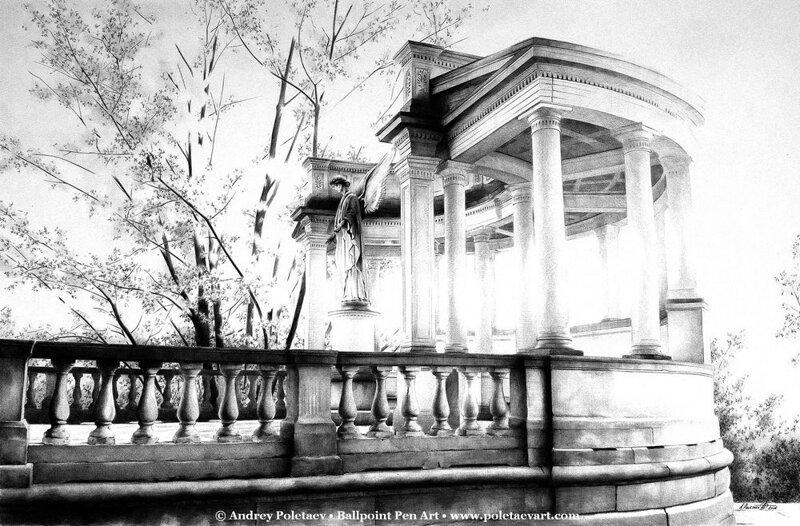 Фотореалистичная живопись шариковой ручкой от Андрея Полетаева-37 фото-