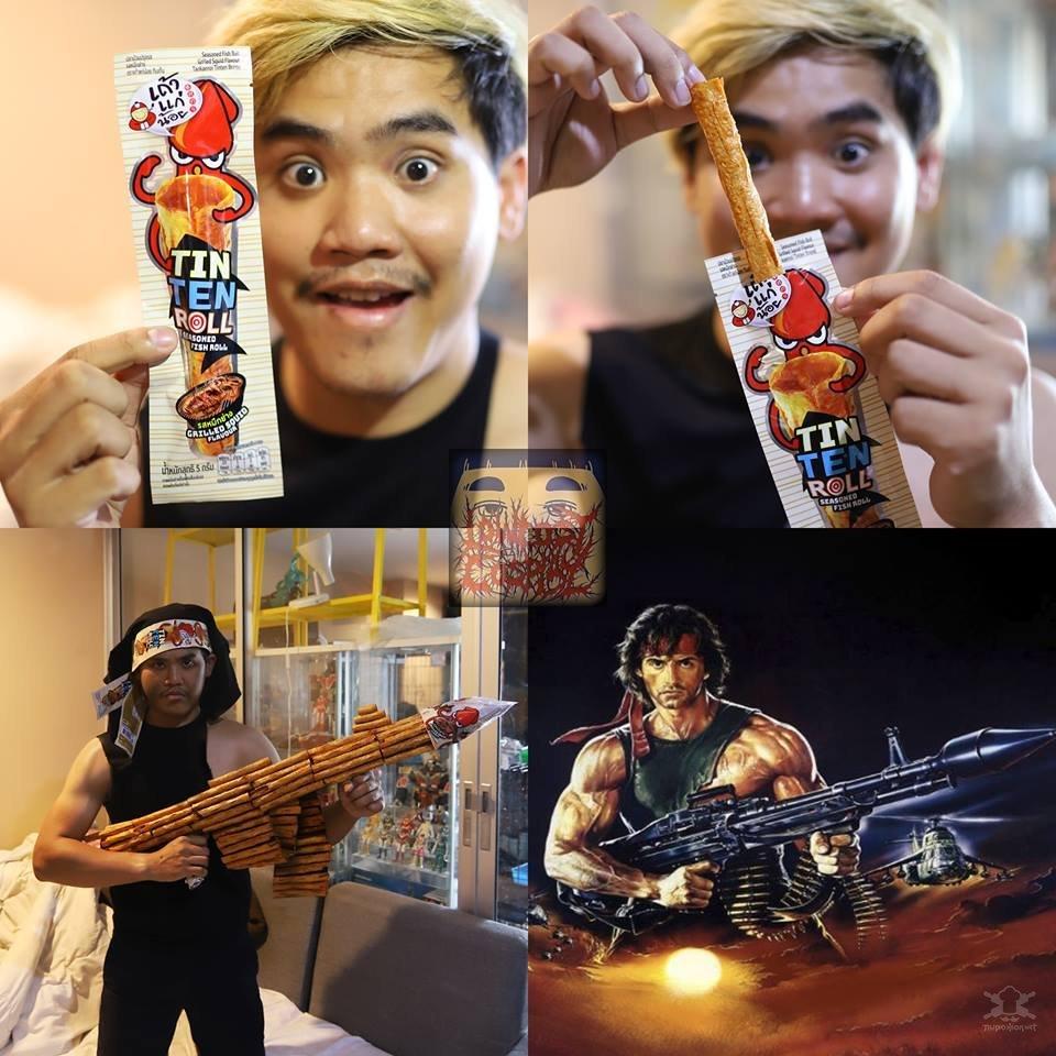 С помощью повседневных вещей и безграничной фантазии парень из Таиланда смешно перевоплощается в различных персонажей