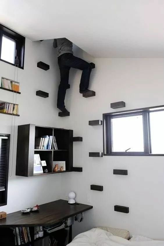 Двухэтажная комната: 20 классных примеров, как с умом использовать небольшую спальню-21 фото-