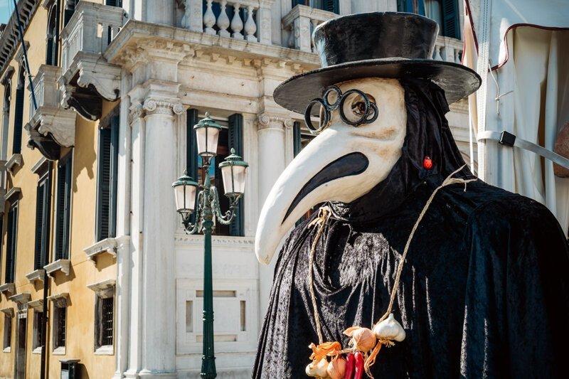 Почему чумные доктора носили -носатые- маски?-2 фото-