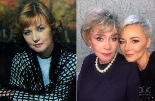 Российские знаменитости -тогда и сейчас-