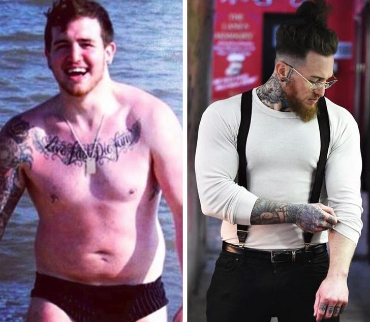 Парень похудел и стал красавцем
