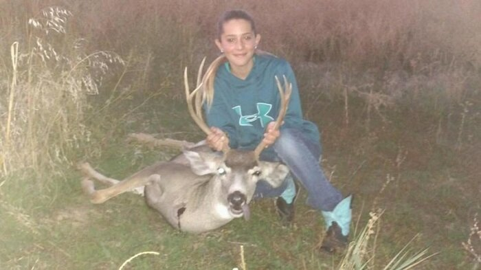 Ариана Гурдин - 12-летняя охотница из США-18 фото-