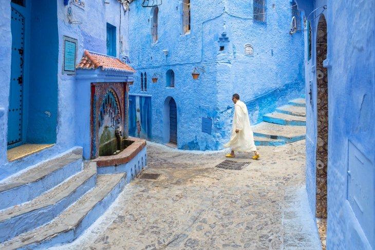 Необычная красота марокканского города Шефшауэн