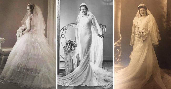 Пользователи сети делятся свадебными снимками своих бабушек. Их утонченные образы стоит взять на заметку Интересное