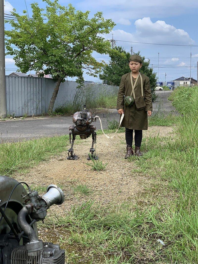 Японский инженер воссоздал для сына фантастические боевые машины будущего-8 фото-