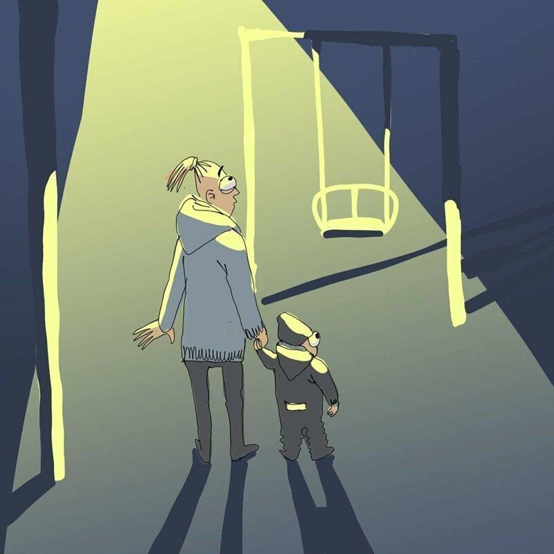 Искренние комиксы про жизнь мам и пап-24 фото-