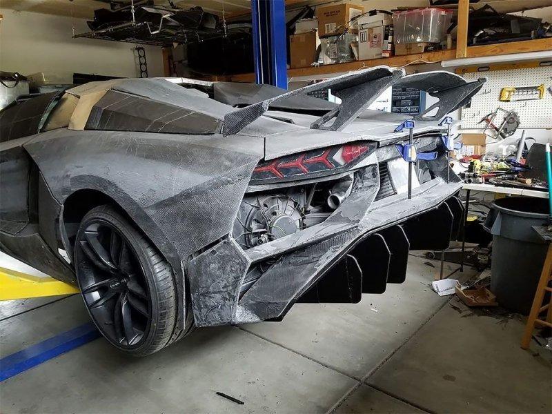 Физик строит полномасштабный Lamborghini при помощи технологий 3D-печати-18 фото + 1 видео-