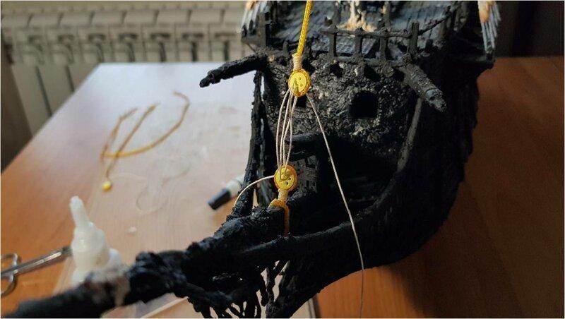 Постройка модели корабля -Летучий голландец- из мусора-187 фото-