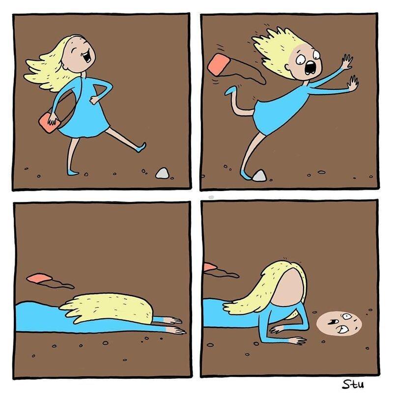 Комикс в 6 картинках, летием женщину