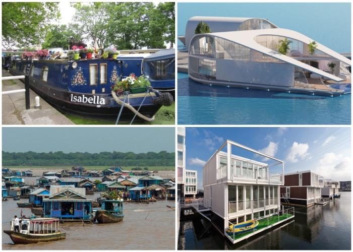 Плавающие дома: от крошечных барж до целых деревень и городских кварталов Интересное