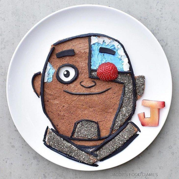 Герои известных мультфильмов из еды юмор