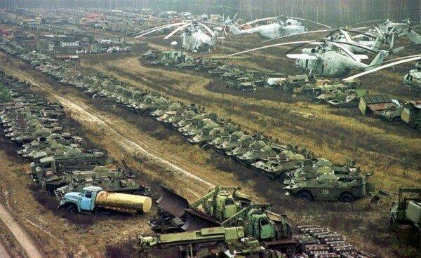 Чернобыль: куда пропала вся техника                      Интересное