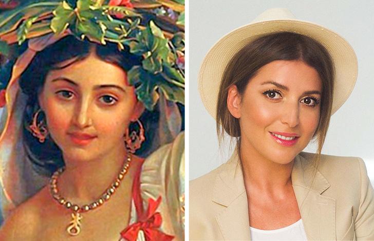 20+ отечественных знаменитостей, у которых нашлись двойники на старинных картинах Интересное