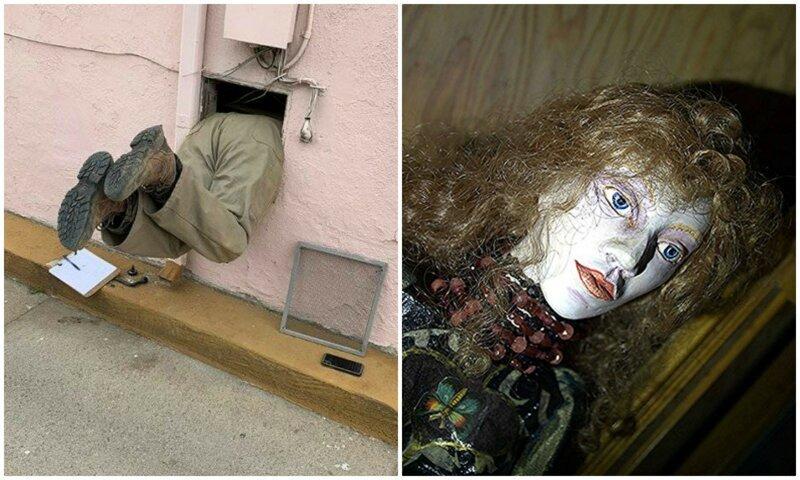 30 странных находок, сделанных во время технической проверки домов-31 фото-