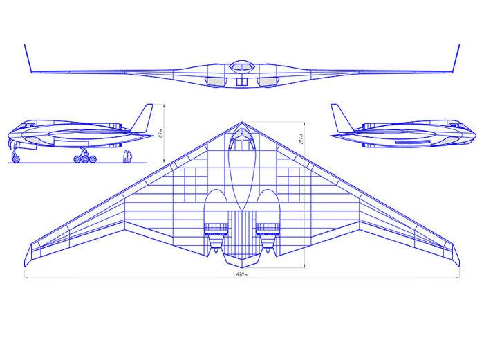 В России испытают стратегический бомбардировщик-невидимку нового поколения Интересное