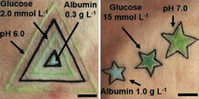 Немецкие учение разработали татуировки, которые сообщают о здоровье