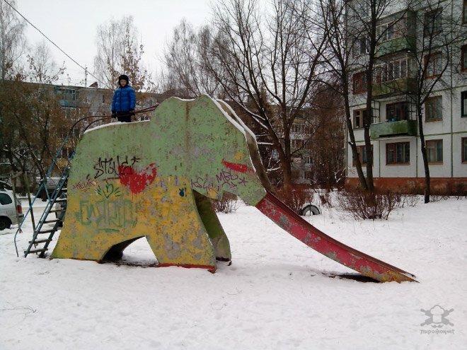 Стрёмные детские площадки