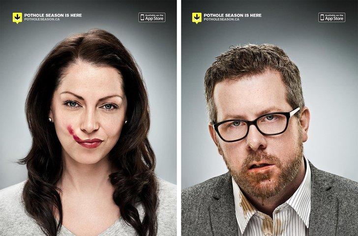 20 примеров рекламы, которая показывает мир под необычным углом Интересное