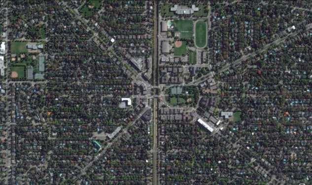 Человеческая цивилизация из космоса: Канада (30 фото) провинции, города, провинция, Альберта, динозавров, необычная, Квебек, Кембриджа, района, застройка, КанадеПлотная, Восточной, электропередач, видноЛинии, здесь, Поезда, вокзала, СенЛазар, карьер, районе