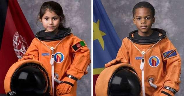 Дети со всего мира превратились в космонавтов (15 фото)