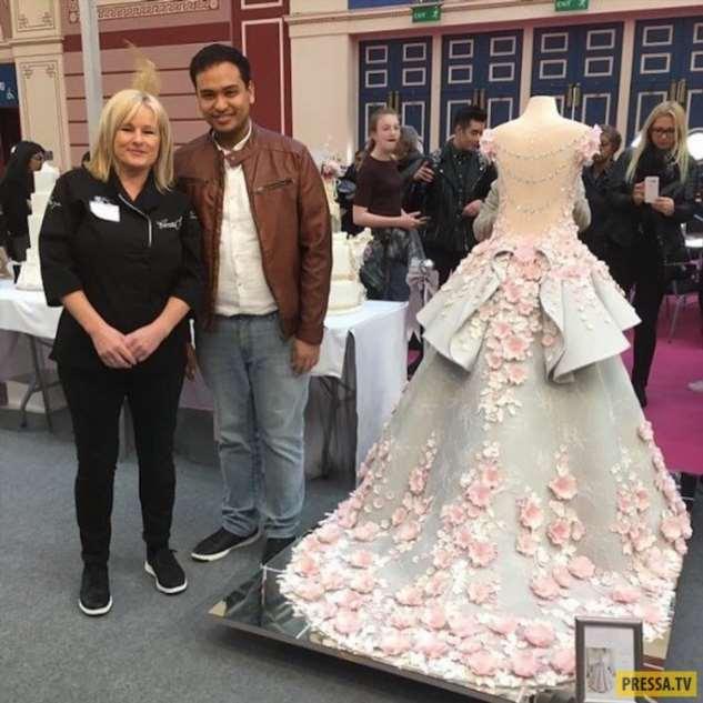 Невероятный торт-платье на шоу Cake International в Лондоне  Интересное