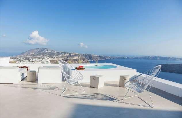 Интерьер дома для отдыха на острове Санторини