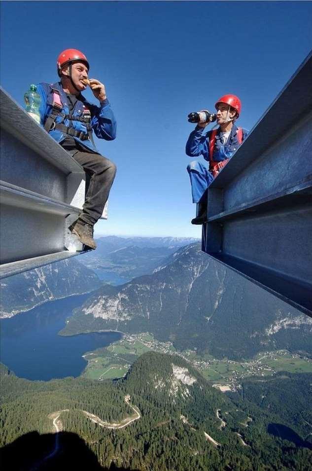 Жуткие фотографии с крыши мира Интересное