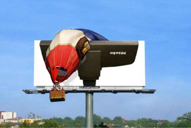 20 потрясающих примеров эффективной наружной рекламы, мимо которой невозможно пройти Интересное