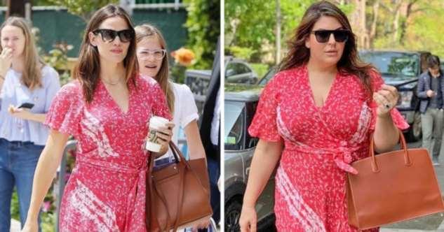 Женщина копирует фотографии знаменитостей, чтобы показать, что размер не должен влиять на стиль