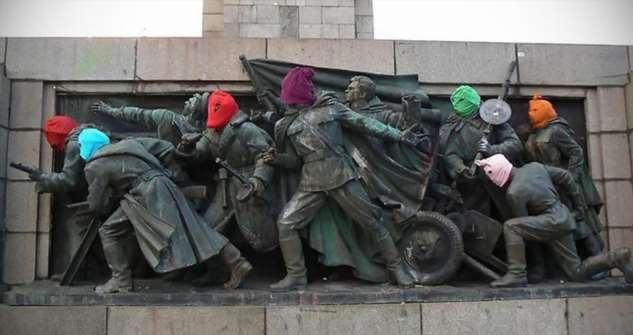 Памятник Красной армии в Болгарии продолжают осквернять  Интересное
