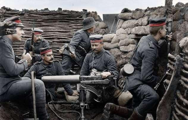 Для чего в Первую мировую войну перед окопами укладывали хворост