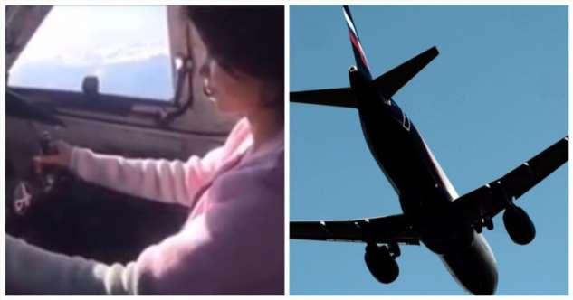 Российский пилот посадил за штурвал самолета подругу и дал ей «порулить»  Интересное