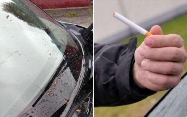 Как обычная сигарета поможет поддерживать лобовое стекло автомобиля в чистоте и порядке авто