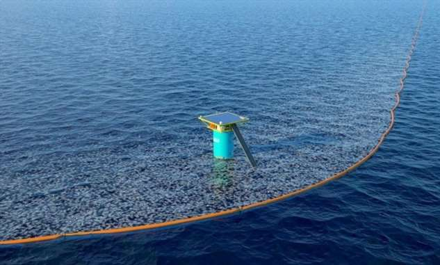 Ловушка для мусора: проект молодого нидерландца очищает мировой океан от пластика сегодня  Интересное