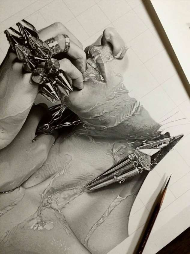 Как работают художники-гиперреалисты  Интересное