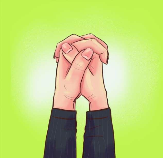 Ваша манера скрещивать пальцы расскажет, какая вы личность Интересное