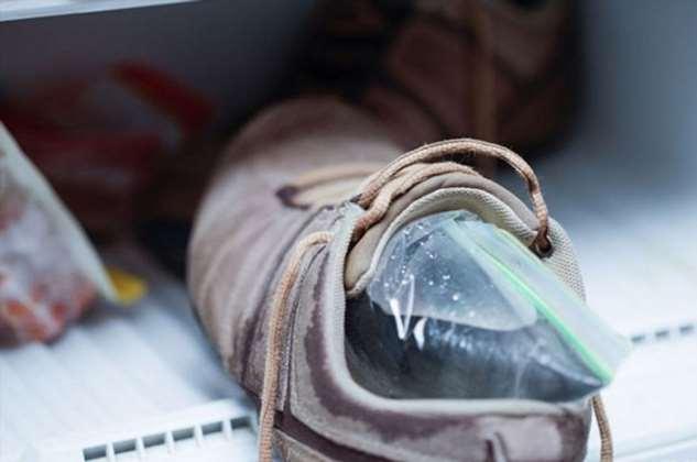 Простой способ растянуть обувь при помощи воды и пластикового пакета Интересное