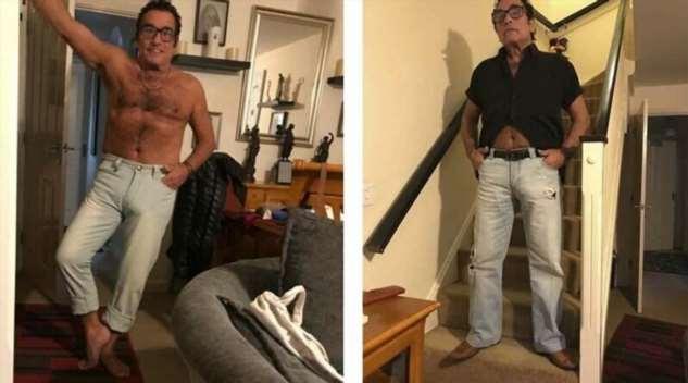Дедушка устроил горячую фотосессию, чтобы продать свои джинсы