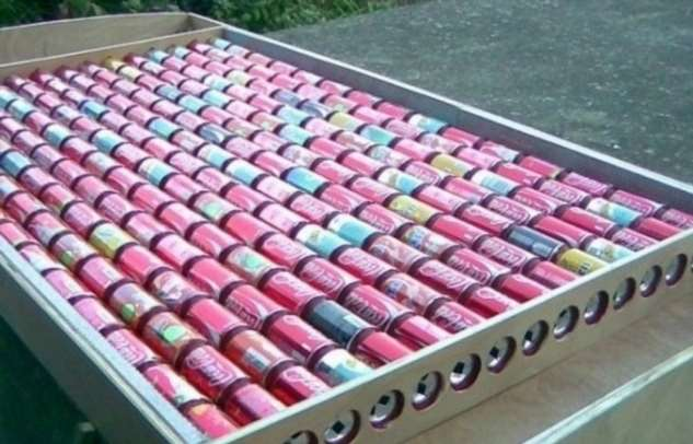 Как сделать солнечный коллектор для отопления из алюминиевых банок Интересное