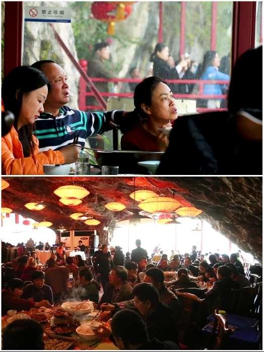 Китайцы построили ресторан на краю пропасти, привлекающий любителей острых ощущений Интересное