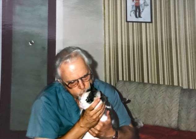 Мужчине с деменцией подарили кота-робота Интересное