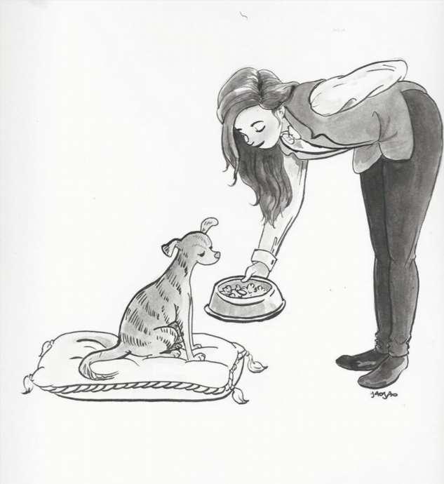 Художница рисует свою собаку — и эти картинки наполняют сердце теплом  Интересное