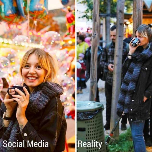 Instagram против реальности: девушка с юмором показывает, что происходит за  «идеальными» фотографиями